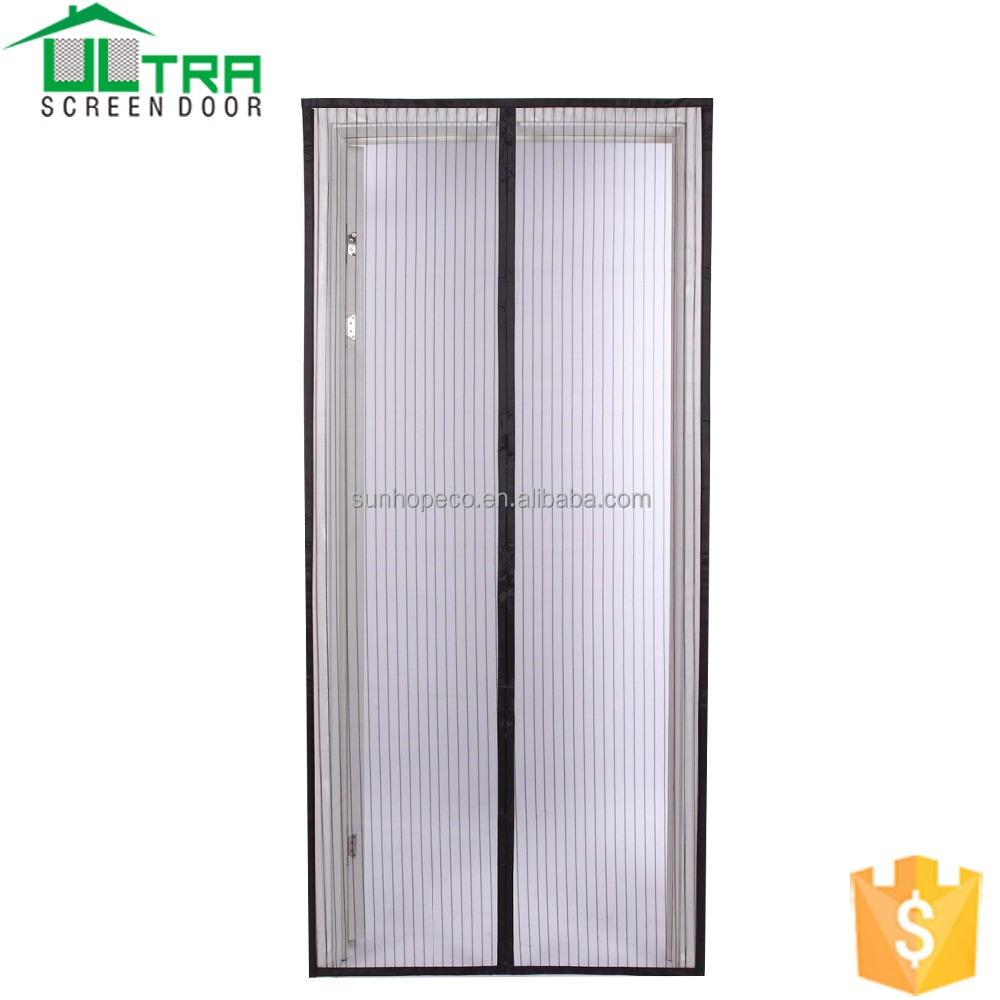 Hands free Magic fly mesh magnetic door curtain