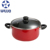 Two handle round mini cocotte with lid heat resistant iron color enamel cast ceramic casserole