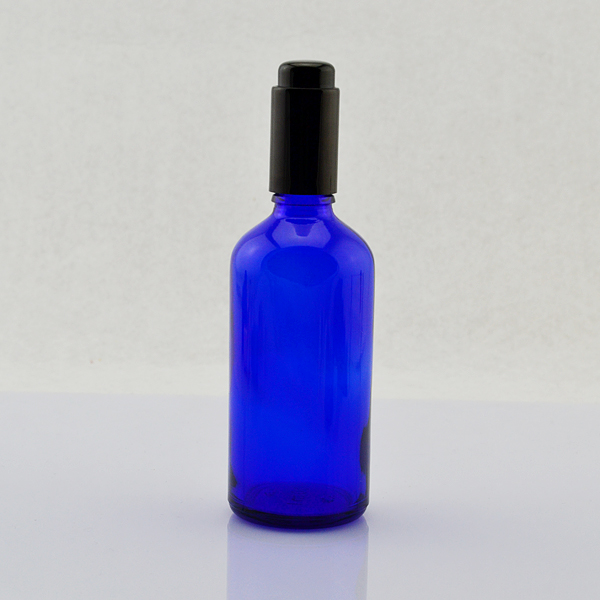 100ml blue clear green amber security essential oil shave lotion matte glass dropper bottle