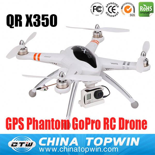 5 channel up GPS GoPro camera FPV RC Walkera QRX350 drone