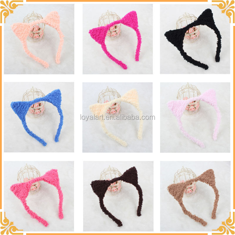 Wholesales 9 Colors New Style Plush Cat Ear <strong>Headband</strong>