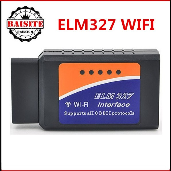 High Quality Elm 327 V1.5 ELM327 Wifi Scanner Auto OBD2 OBDII Diagnostic Tool OBDII V 1.5 Wireless For Both Android Iphone ios