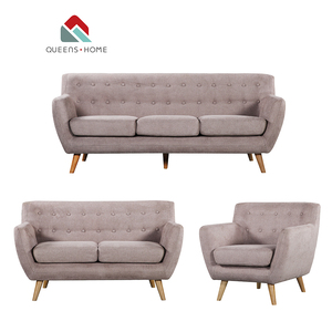 Queenshome furnitures house gray foam fabric set sofa lounge furnish latest living room sofas design cheap 123 seater sofa set