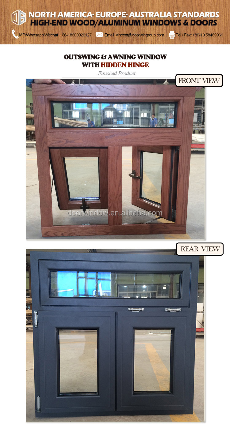 wood basement windows push out double glazing casement window
