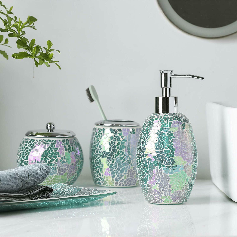 Elegante Bad Gebarsten Glas Mozaïek Bad Accessoire Set