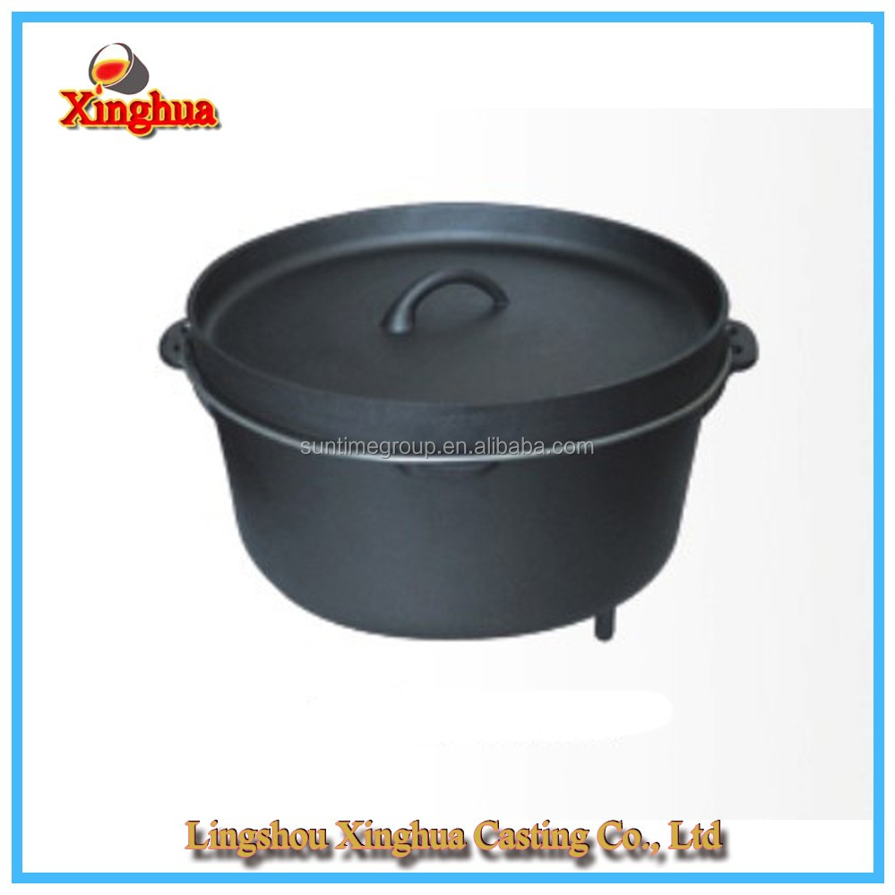 Three Legs Cast Iron Dutch Oven/Cast Iron Pot for Outdoor Camping