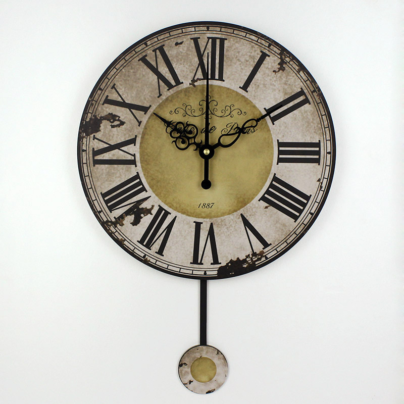 fashion roman numeral wall clock absolutely silent living ...