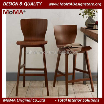 Design Coffee Shop Furniture Wooden Bar Stool High Chair