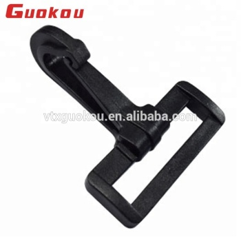 Large plastic flat hook buckle for hungee cord