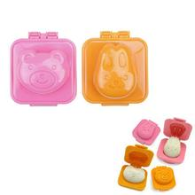 plastic bear and bunny shaped hard boiled egg molds for cooking tool