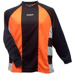 e8319f6370e Get Quotations · Reusch Barcelona II Longsleeve Goalkeeper Jersey -  Orange/Black/Grey