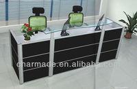 2012 new design stylish QQ318 style reception desk office furniture