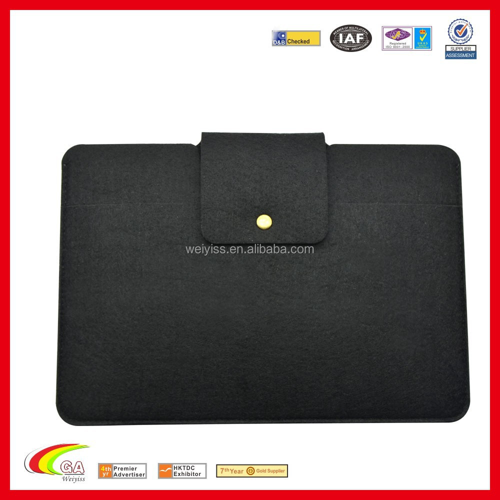 Black felt sleeve for Ipad mini 3 hot new products large quantity better price