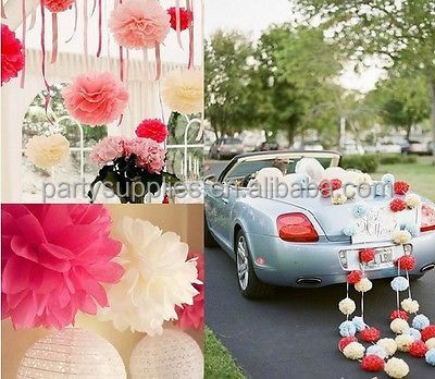 Perfect Wonderful Fancy Paper Tissue Pom poms for Wedding Decoration