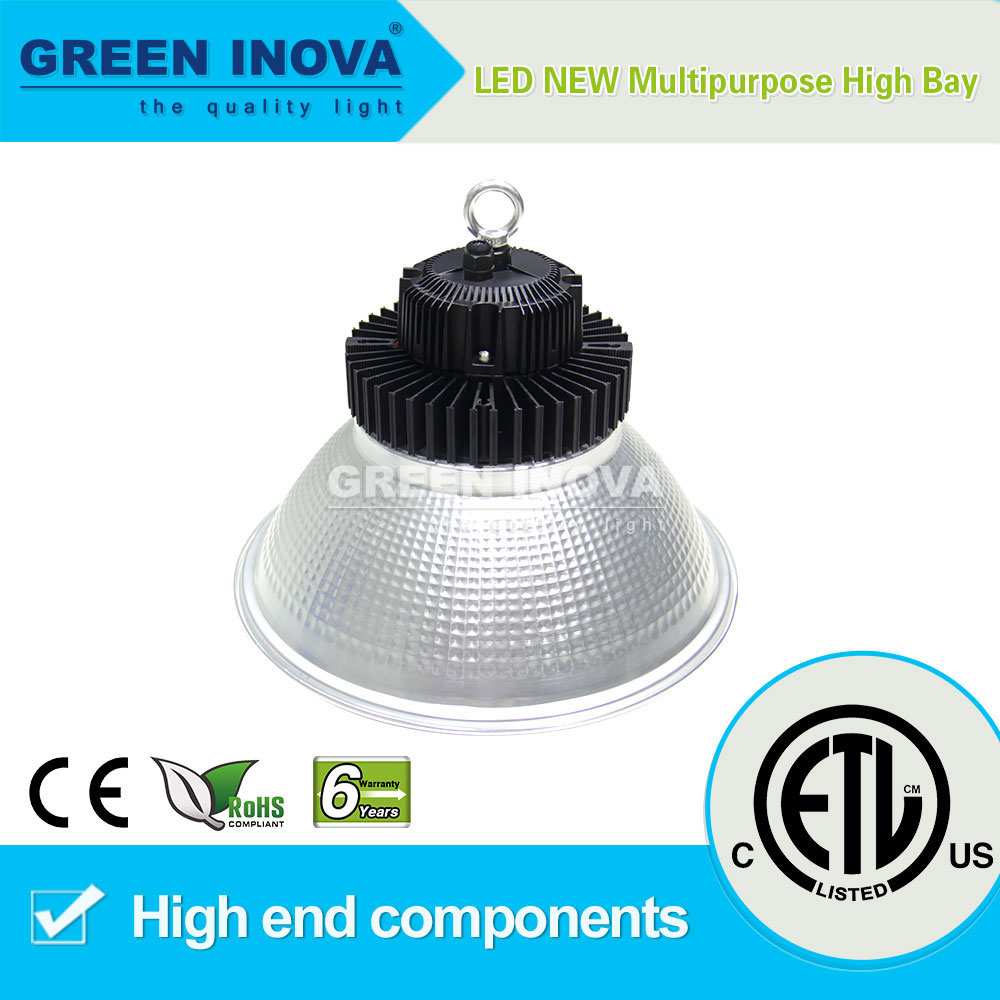 6 years warranty ETL cETL listed LED high bay light tuv