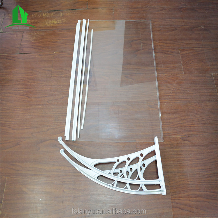 china manufacturer spare parts half round poly carbonate window awning