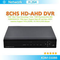 Most economic H.264 8Chs AHD Realtime CCTV DVR CMS Software Free
