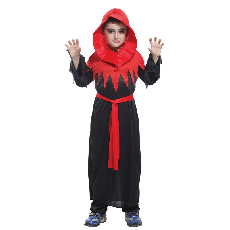 Vampire Demon Ghost Costume Goethe Cosplay Red Halloween costume for masquerade boy