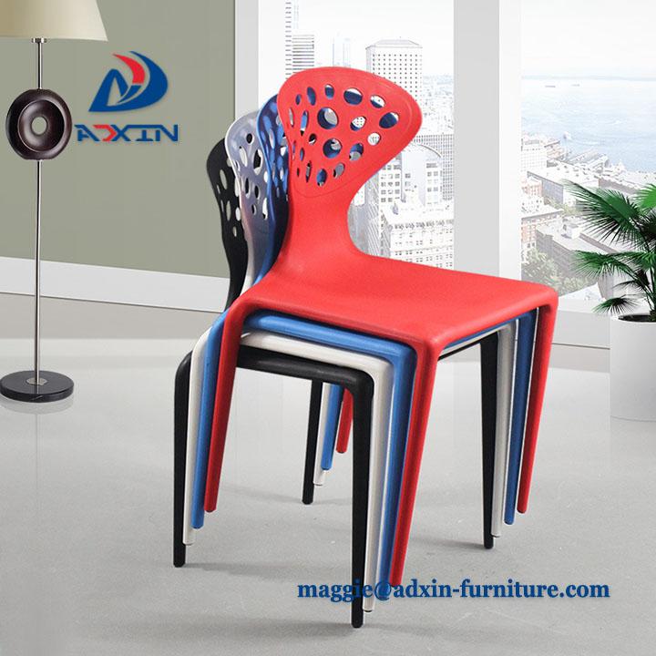 Outdoor Garden White Stackable Pp Chair Cheap Plastic