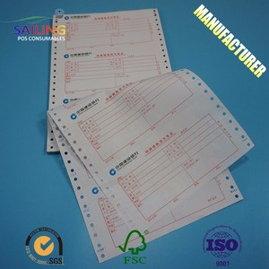 Wholesale Price Payslip computer form pin mailer printer roll carbonless paper ncr atm