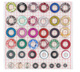 9mm 12mm 18mm 20mm shoe accessories colorful metal eyelets