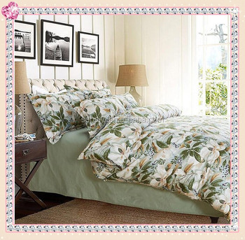 Fashion Flower Fabric Painting Top Quality 100% Cotton Bed Sheets