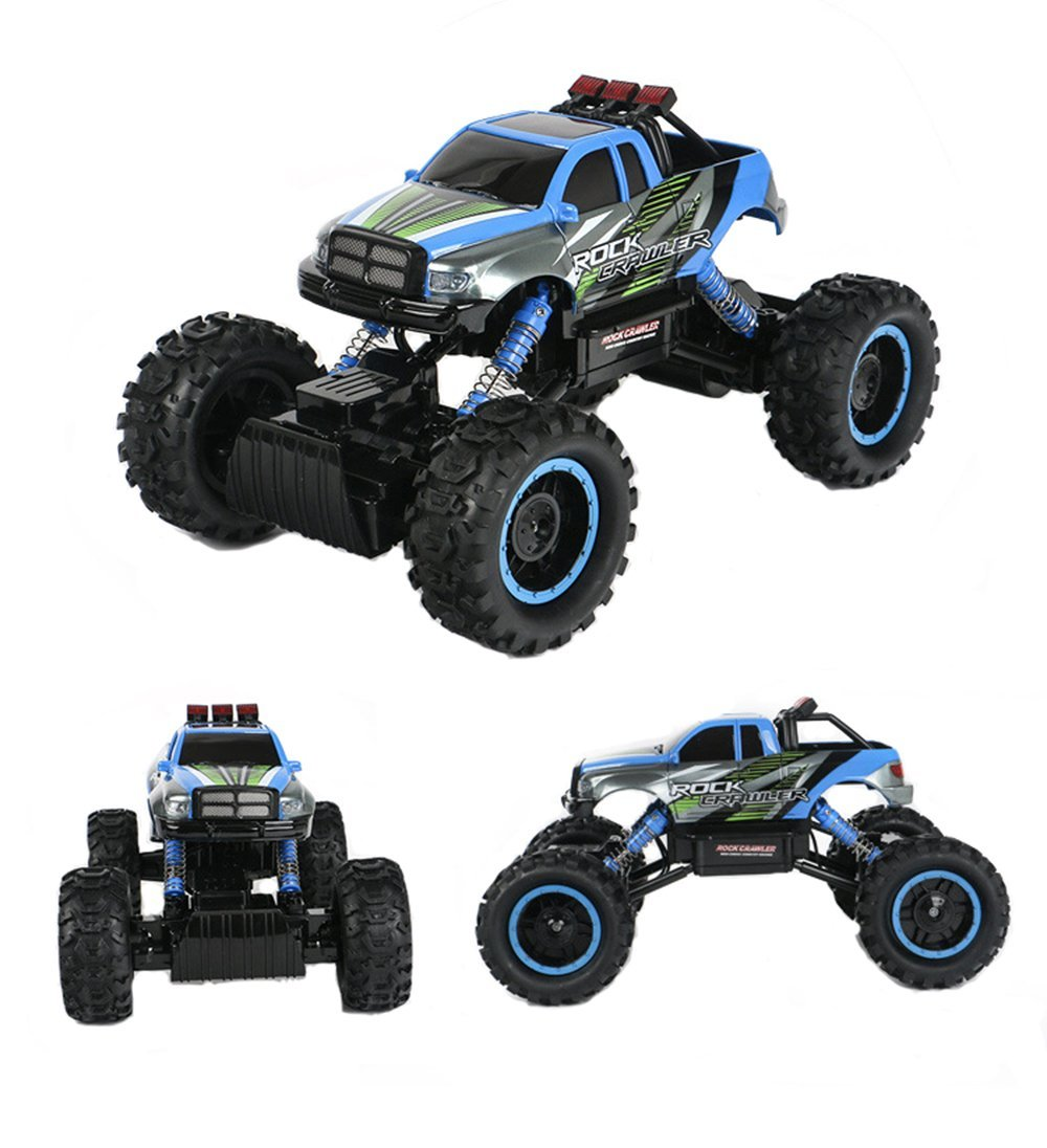 TTLIFE Rock Crawler RC Car - 4x4 Remote Control Car - 1/14 Rock Master Rock Crawler with 2.4Ghz Controller(blue)