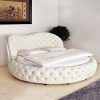 Unique Queen size White/purple Round bed ON SALE