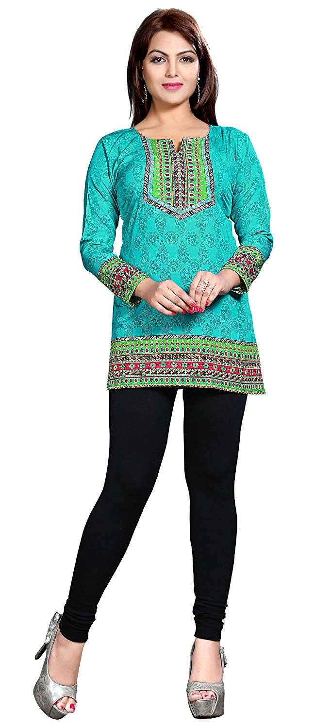7e1dda5f1a126 Get Quotations · Maple Clothing Kurti Tunic Top Printed Womens Blouse  Indian Clothes