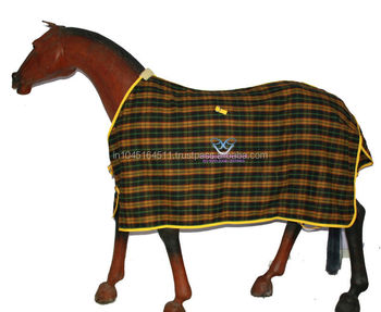 Horse Woolen Rug In Black Yellow Green Check 450 Gsm Rugs Product On Alibaba Com