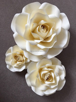 Giant/Large Paper Flower Rose Wall For Weddings Birthdays Parties Decor