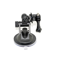 Suction Cup Mount with screw action camera accessories fit for GoPro /Xiaomi Yi / SJ4CAM / Sony /AEE sport cameras free shipping