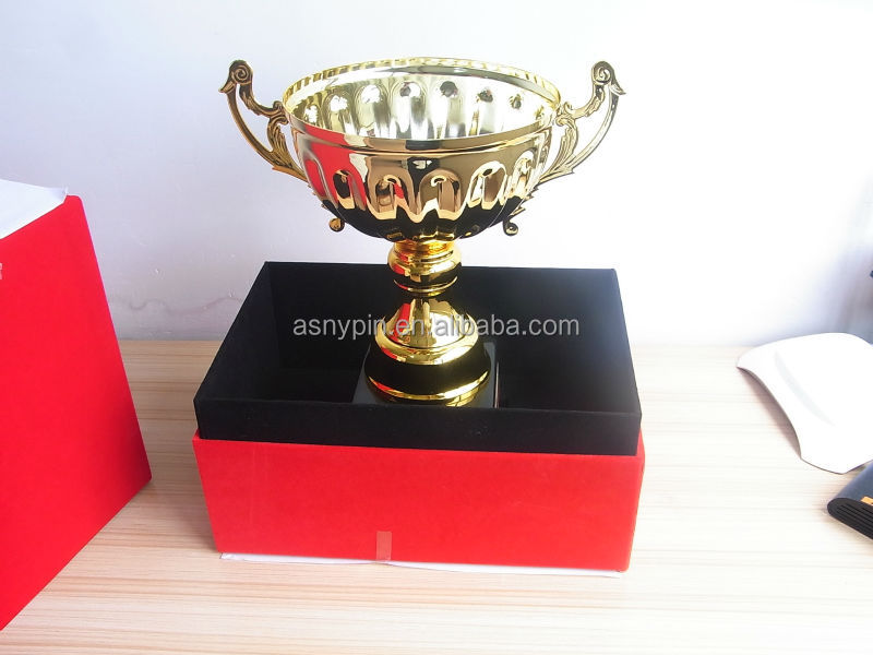 Gold award trophy cup wooden souvenir awards gold sport cup trophy