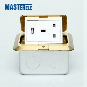 Floor Mounted Pop-up Type Square Electrical Plugs Socket With Box And Different Standard UK AU US EU FR Socket