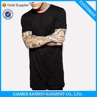 Men'S Comfortable T-Shirt Mens 100% Cotton Longline Short Sleeve Tshirt China Supplier OEM