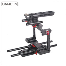 CAME-TV DSLR Camera Rig BMCC-01 W/ TOP Handle Dovetail Plate 15mm Rod