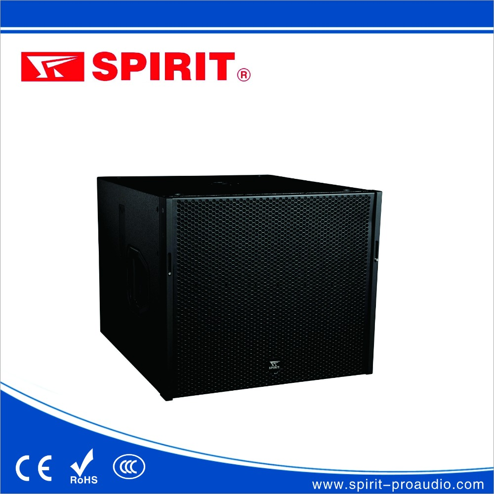 OEM pro audio passive/active line array speaker 18 inch 1000 watts 100mm voice coil woofer SPIRIT LQ-118sub plywood speaker box