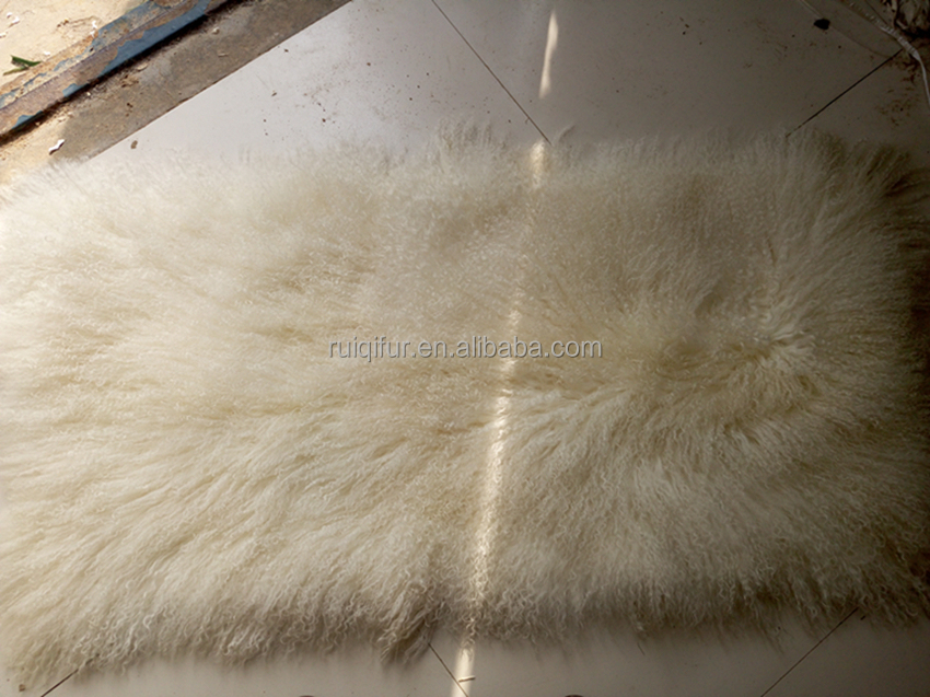 top-level long hair curly Mongolian lamb fur Tibet lambskin plate