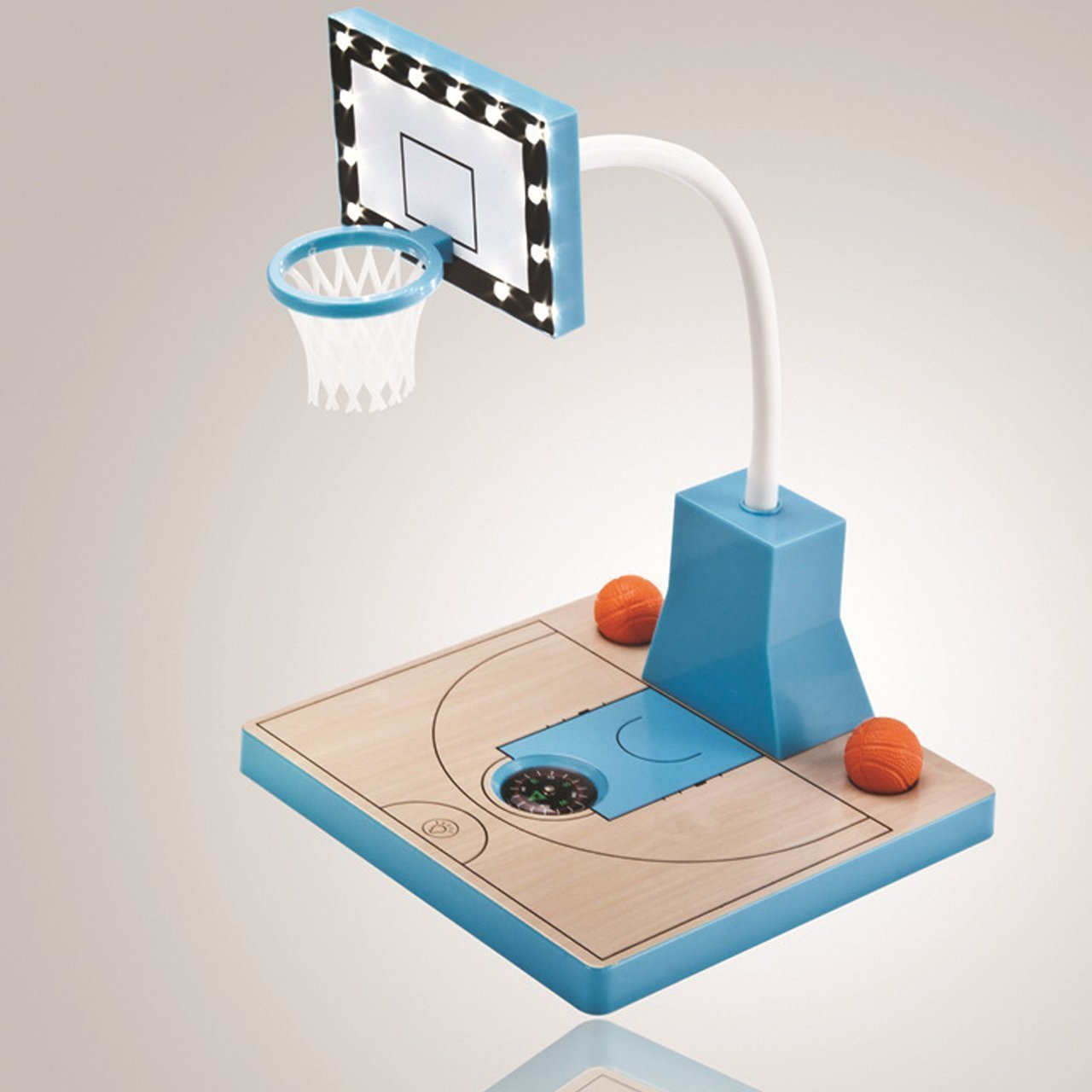 Basketball Stand Desk Lamp by Haixiang,12 LED Bulbs 1 Watt Table Lamp,Rechargeable USB Sports Basketball Lamp (Blue)