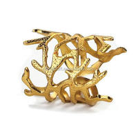 Gold Coral Napkin Rings