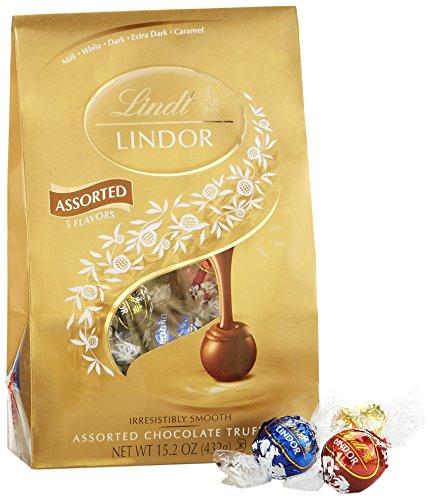 Lindt LINDOR Assorted Chocolate Truffles, Kosher, 15.2 Ounce Bag
