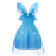 Princess Fairies Pixie Costume Girls Kids Blue Fairy Halloween Cosplay Princess Cinderella Dress Off Shoulder Party Gown