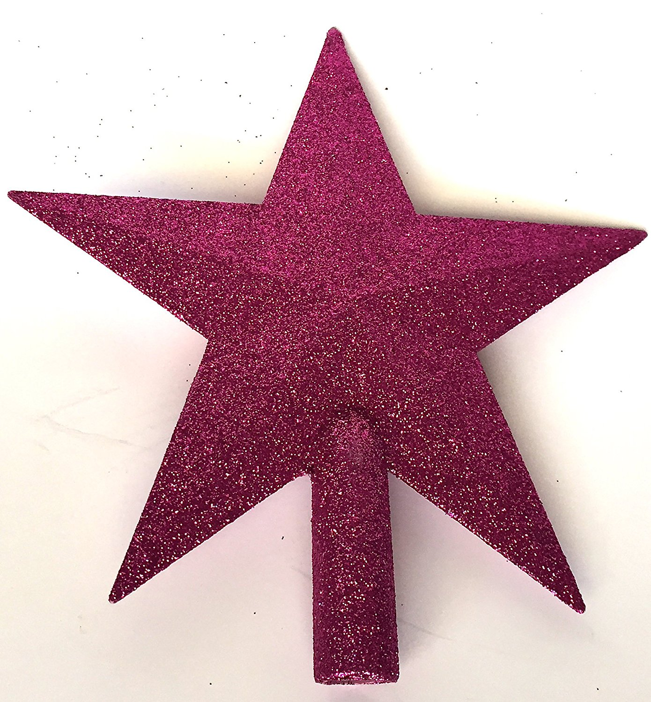 get quotations 4 pink glitter mini star christmas tree topper unlit - Mini Christmas Tree Topper