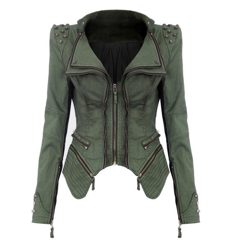Compra chaqueta de mezclilla punk online al por mayor de