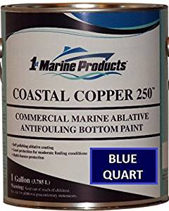 Coastal Copper 250 Ablative Antifouling Bottom Paint BLUE QUART