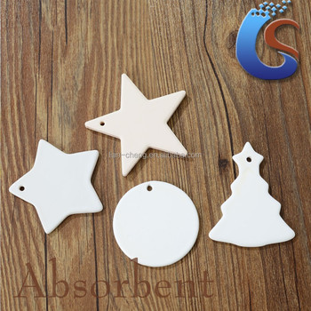 Irregular Shape White Ceramic Christmas Ornaments - Buy ...