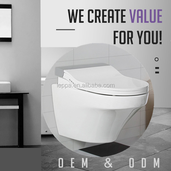 Intelligent wall-hung toilet with Smart seat cover water saving automatic bidet wall hung smart toilet