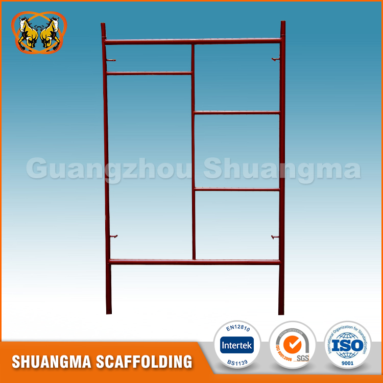 Factory price customized color h type frame scaffolding