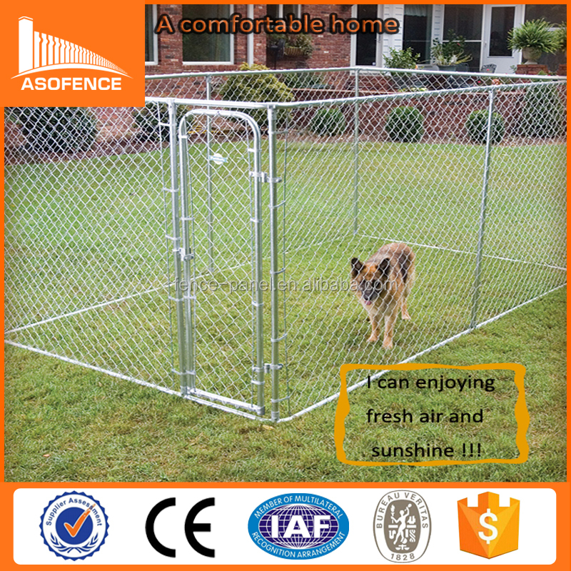 10x10x6 foot galvanized cheap large dog run kennel / lowes dog kennels and runs