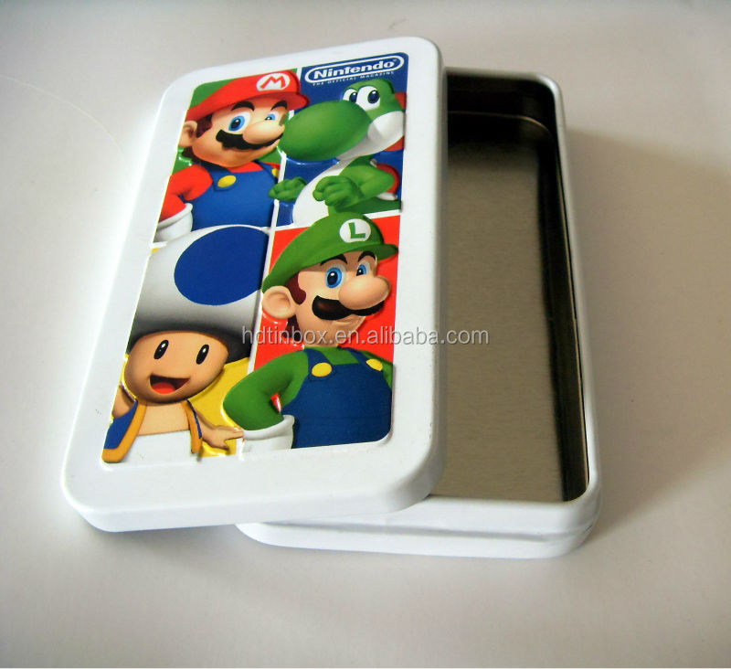 Playing cards custom design card game tin box for credit card